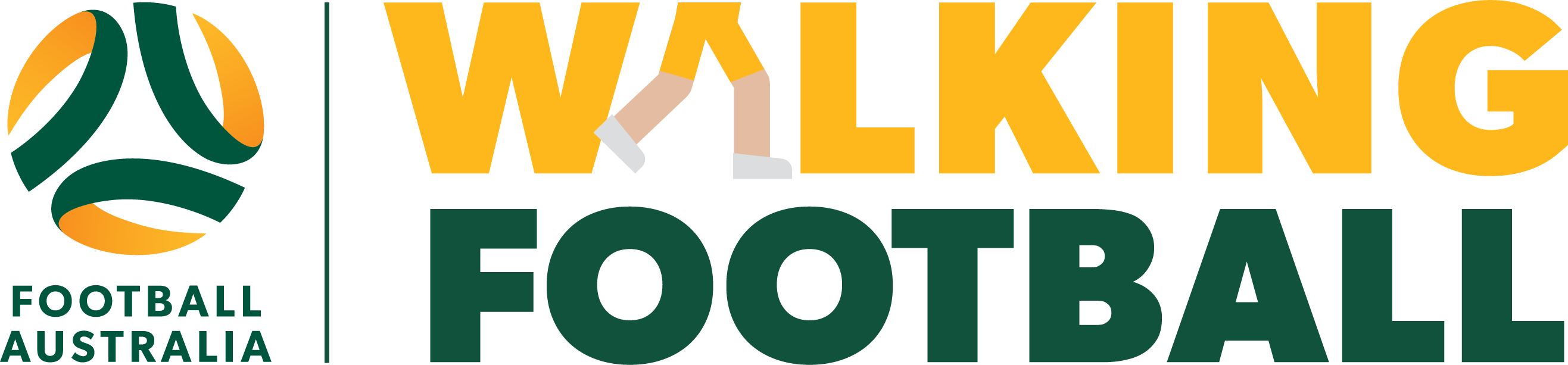 Walking Football Football Australia logo