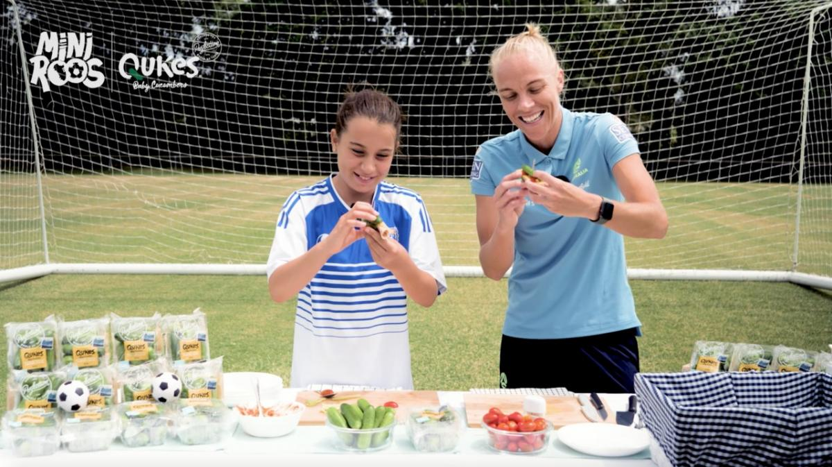 Making Qukes recipes with MiniRoos & the Westfield Matildas