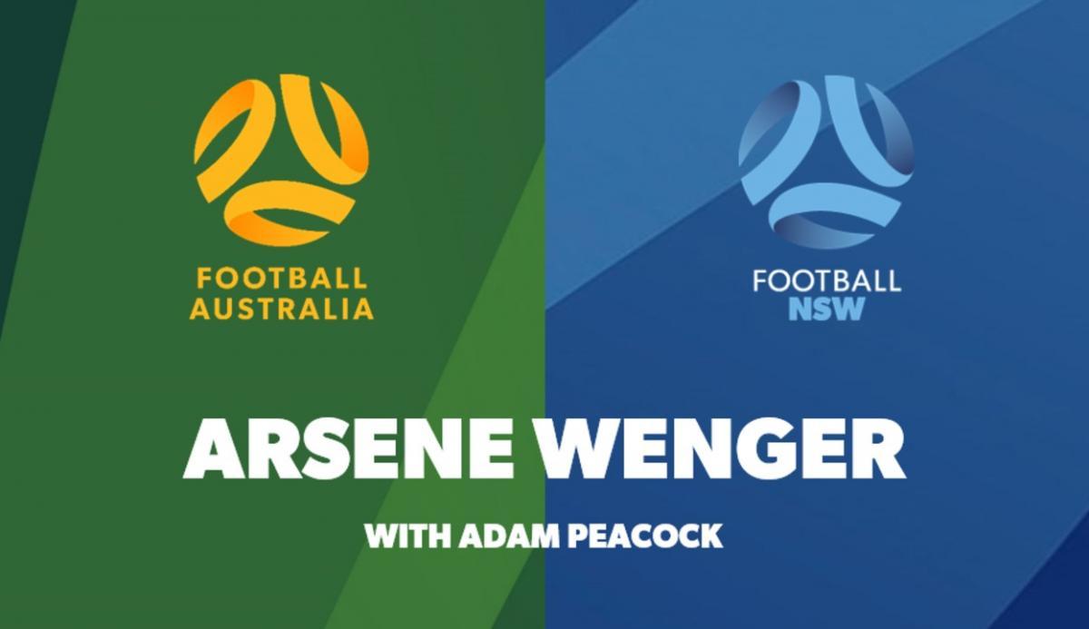 Arsene Wenger with Adam Peacock