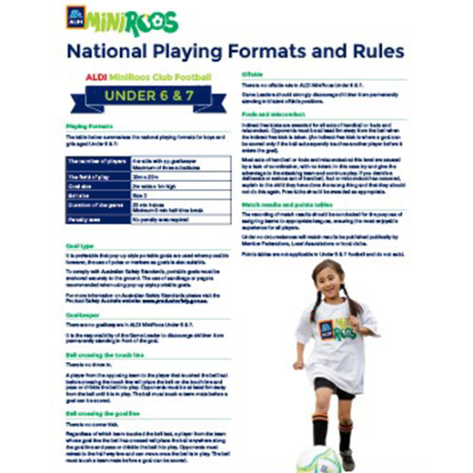 National Playing Formats And Rules