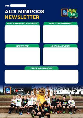 Aldi Miniroos Newsletter Template