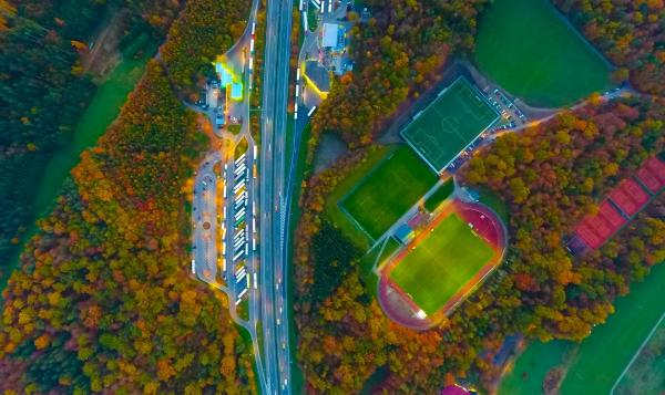 aerial view pitch
