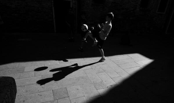 soccer shadow